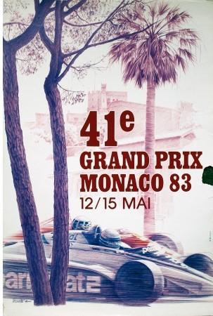 Original 1983 Monaco GP Poster