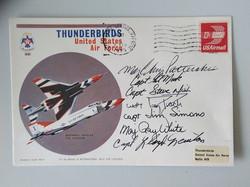 Thunderbirds Display Team Signed 1975