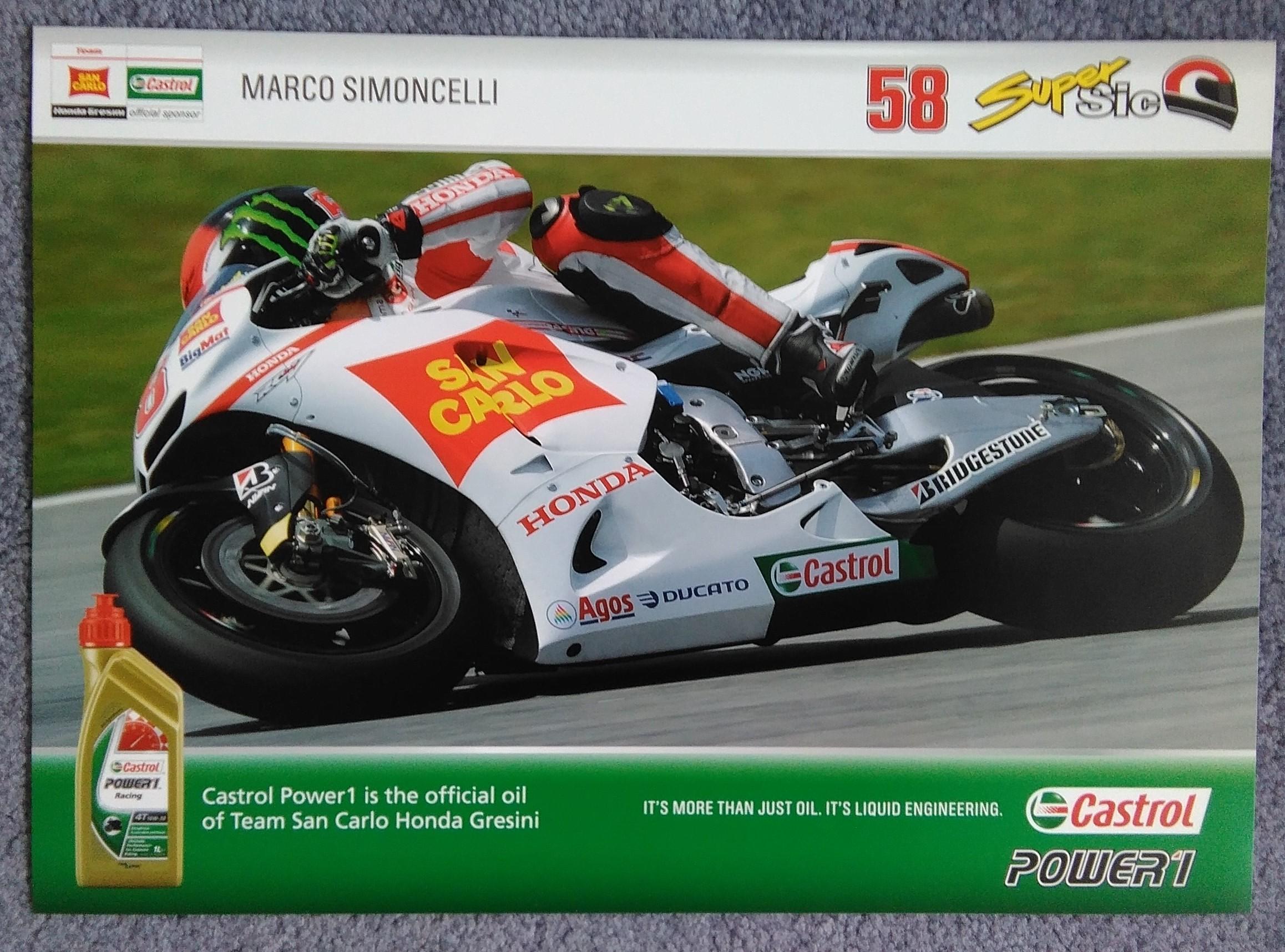 Marco Simoncelli Gresini Team Poster
