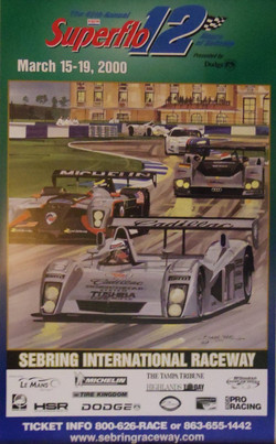 Original Sebring 12 Hours Poster-2000