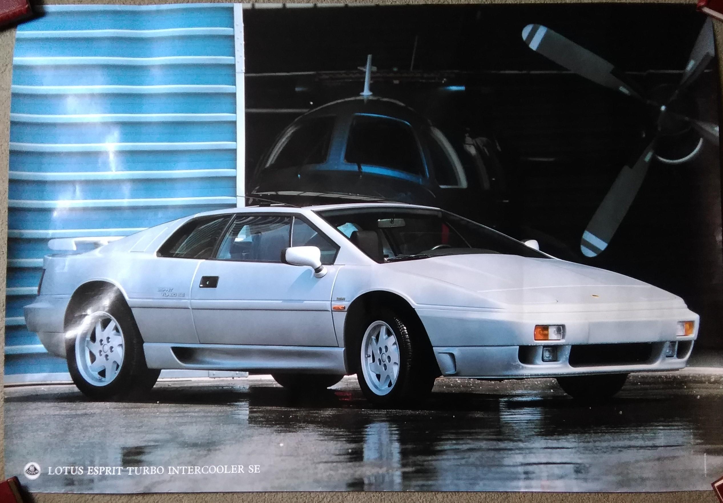 Lotus Esprit Turbo Intercooler SE Poster