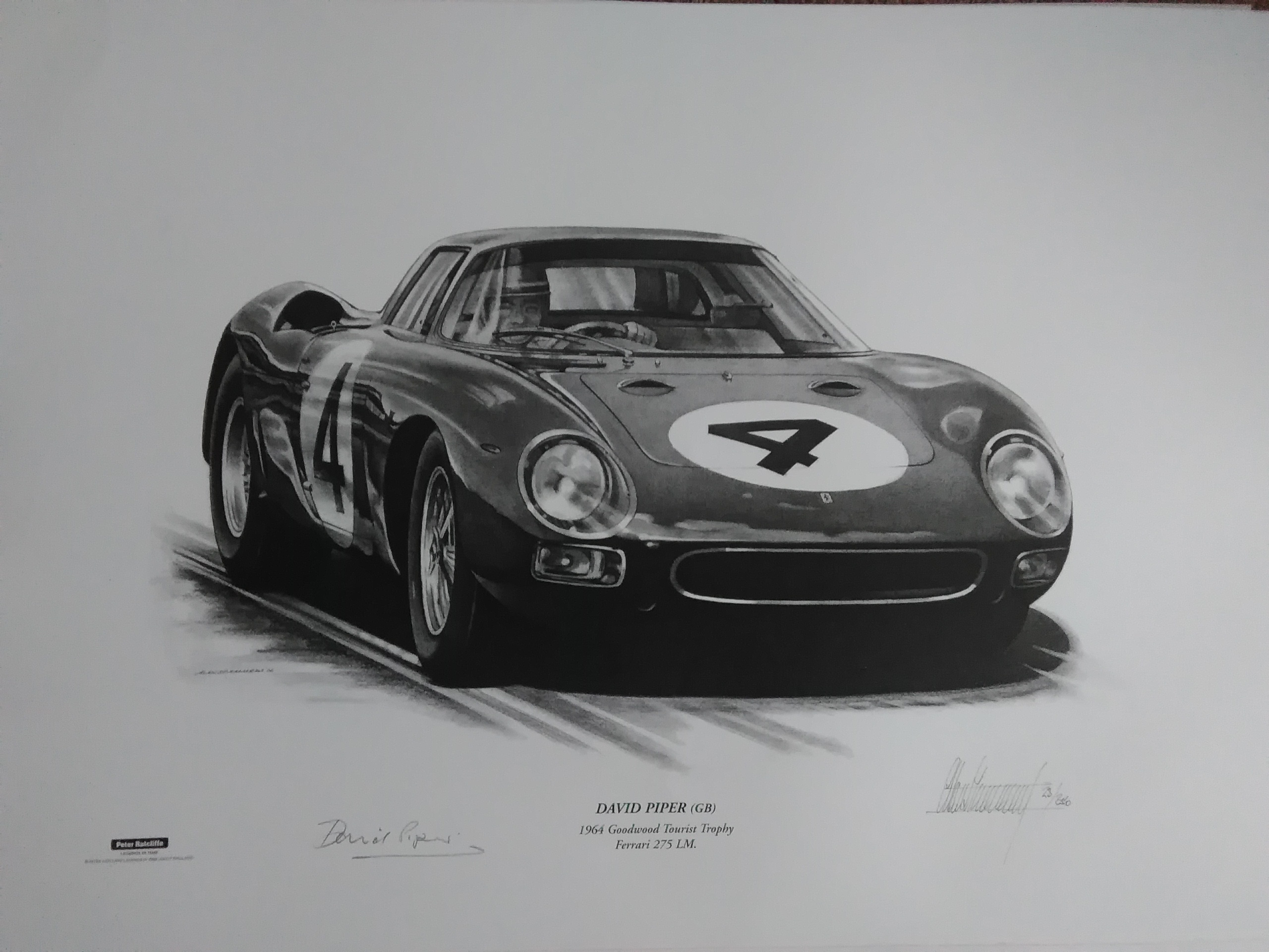 David Piper-Ferrari 275 - Goodwood 1964 Signed