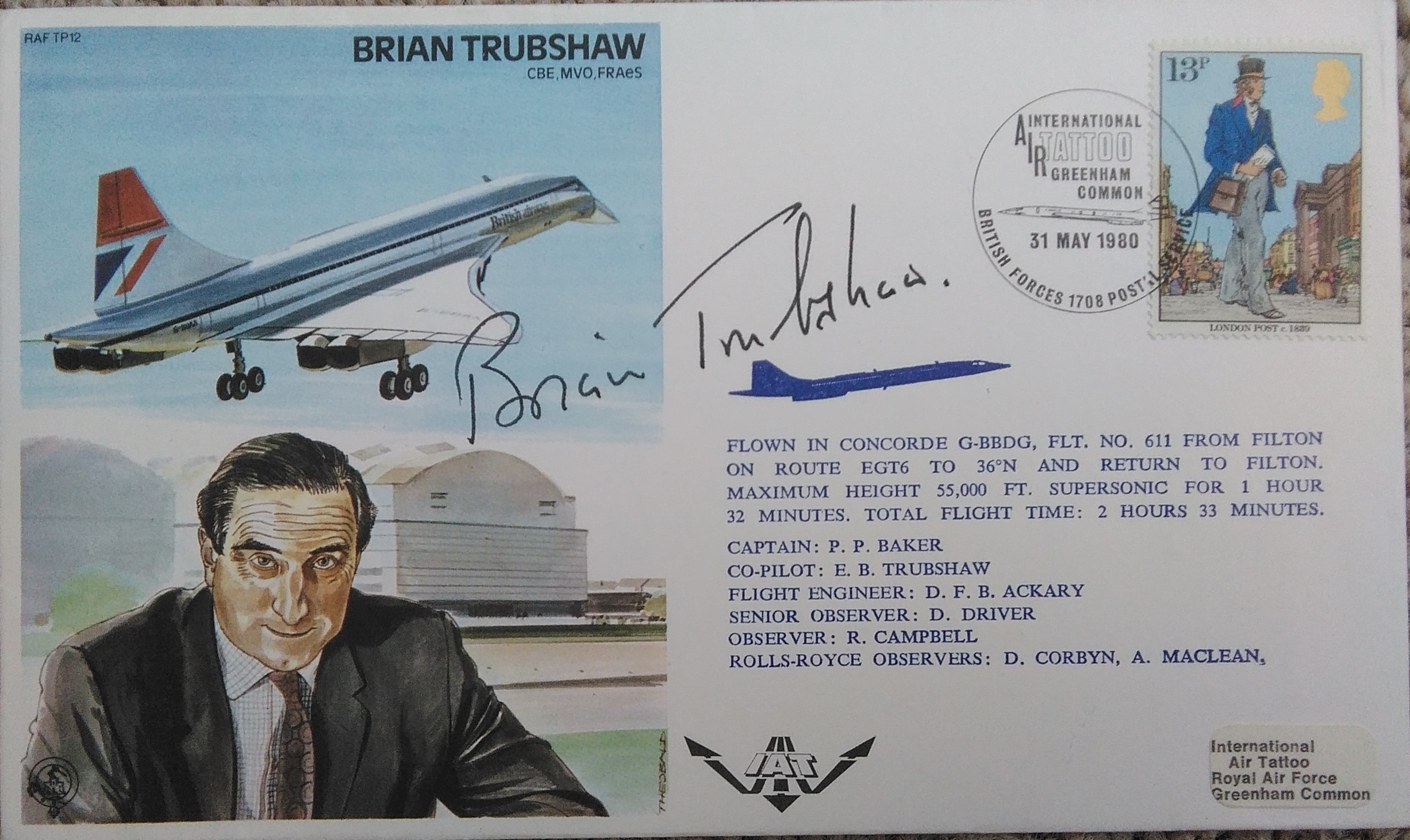 Brian Trubshaw Signed Own FDC