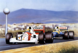 Senna & Mansell Hungarian GP