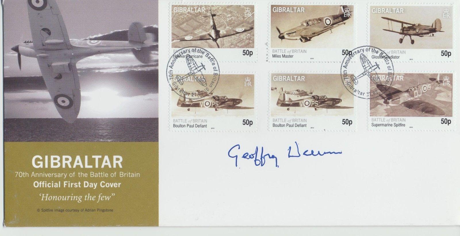 G.Wellum signed Gibraltar Battle Of Britain 70th