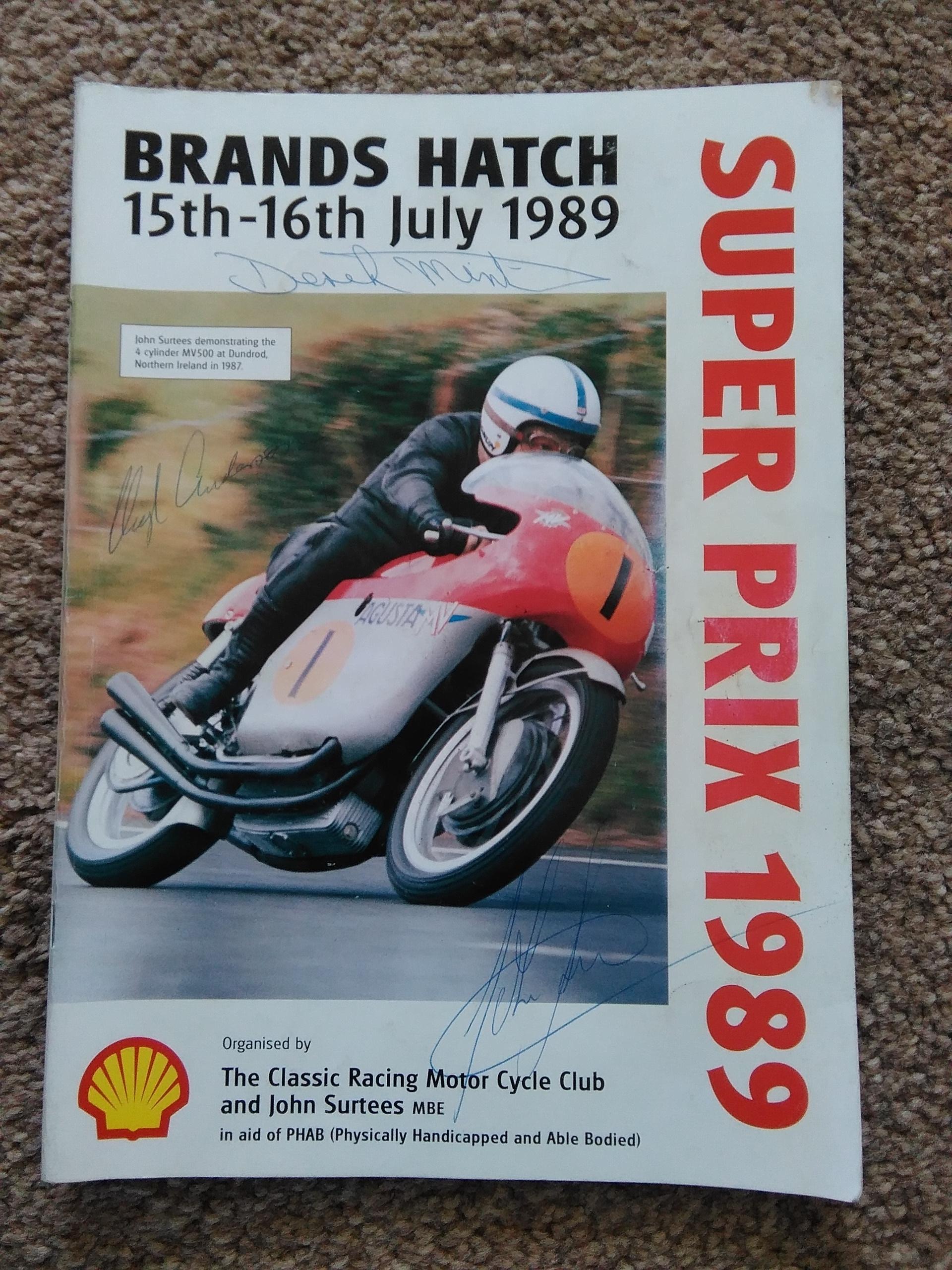 Brands Programme signed Surtees etc