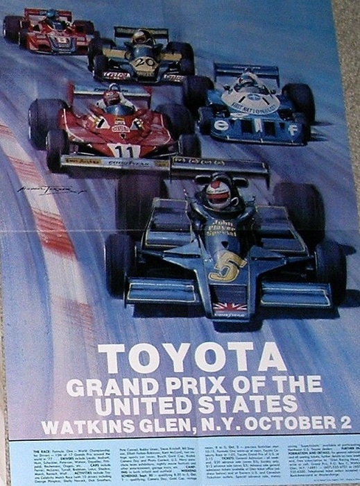 1977 Watkins Glen Poster