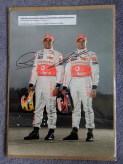 Hamilton & Kovalainen Signed