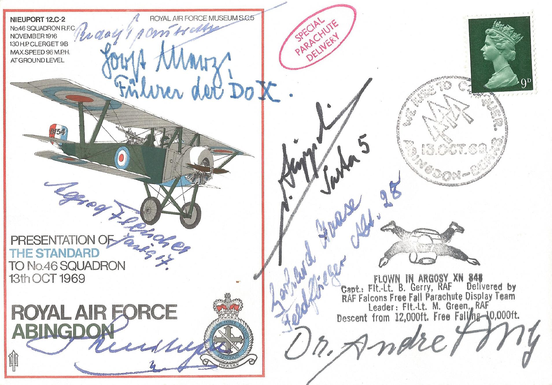 Multi WWI Luftwaffe Signed Cover