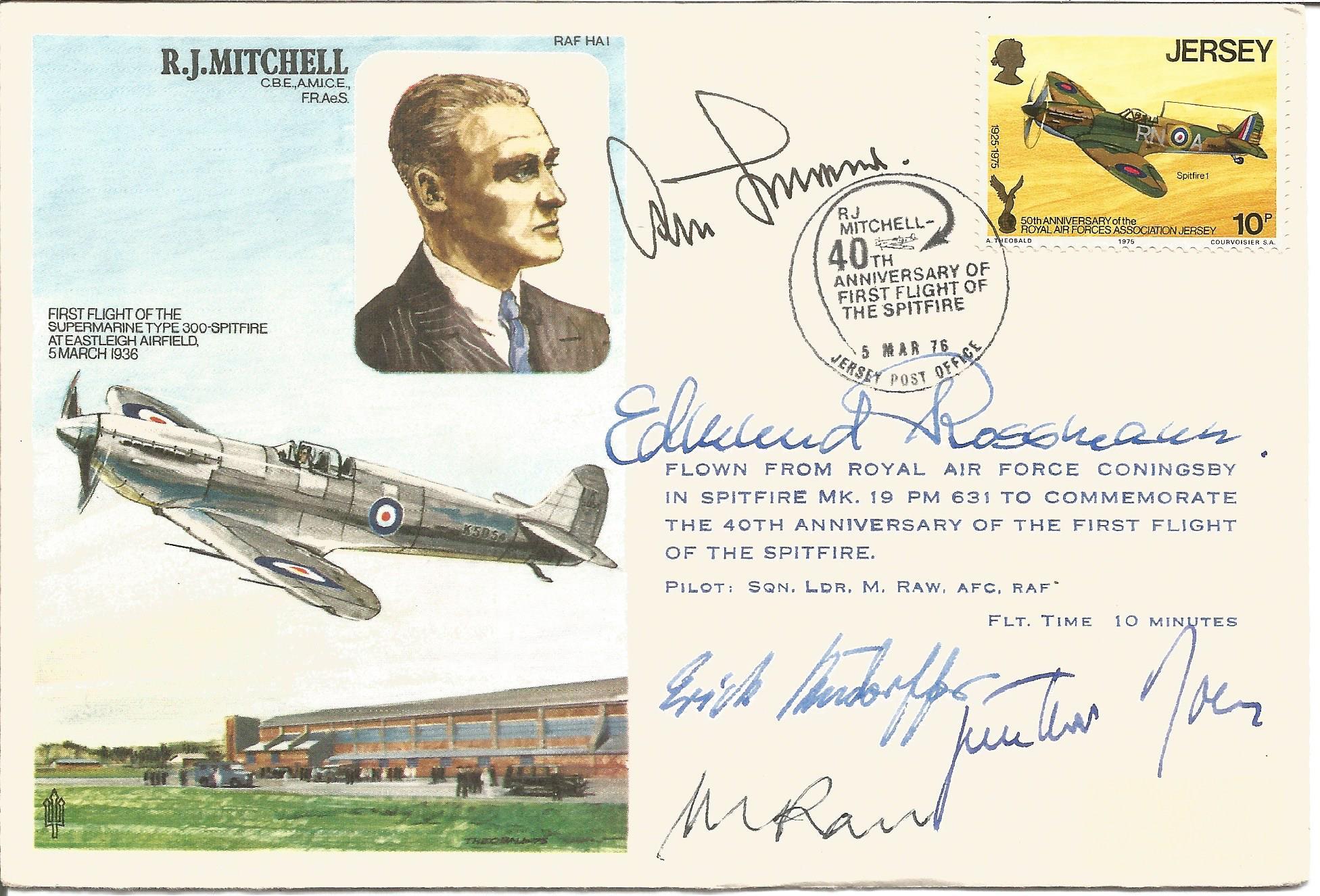 Multi Luftwaffe Signed RJ Mitchell FDC