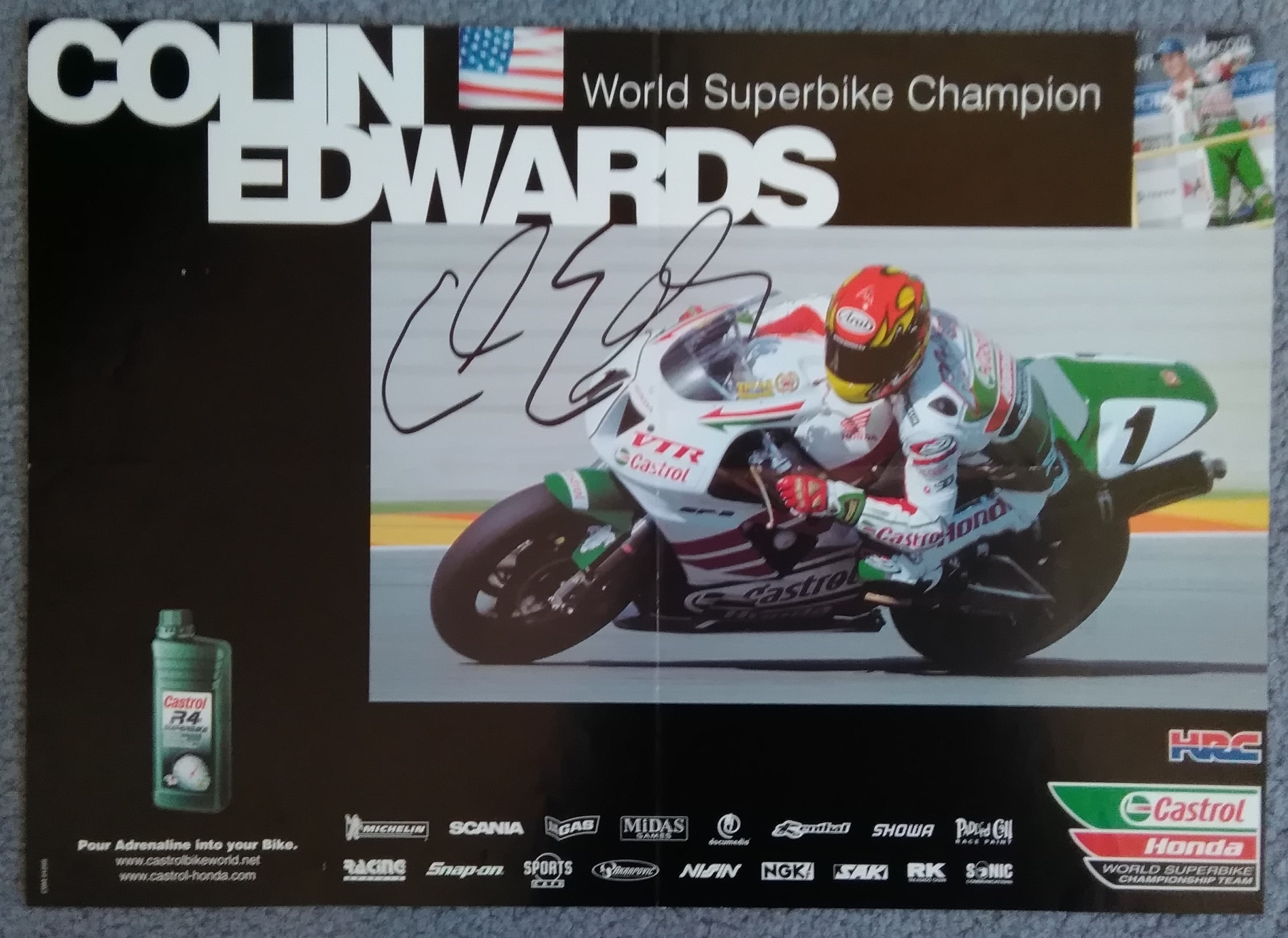 Colin Edwards-WSB Champ-Signed