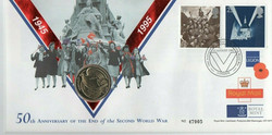 VE Day 50th Anniversary with Coin