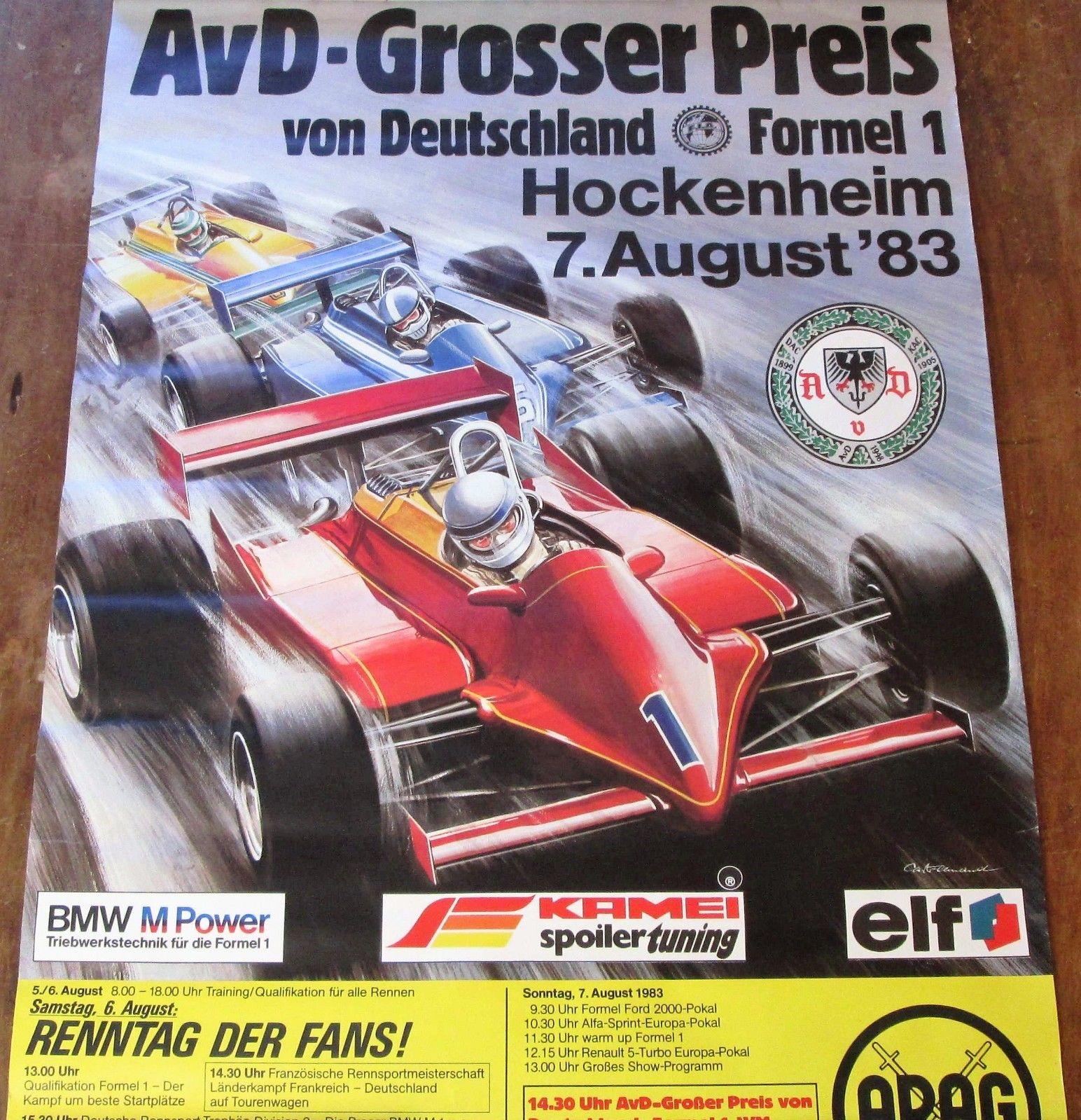 1983 Hockenheim F1 GP Poster