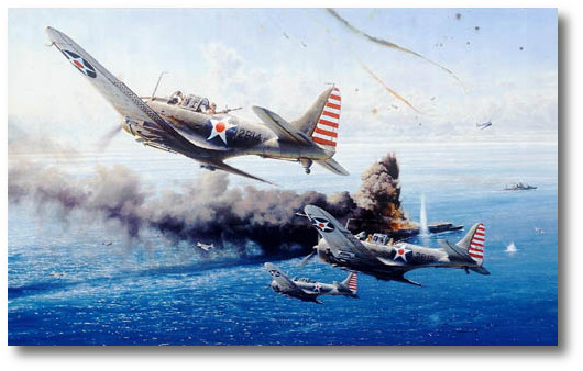 Battle Of The Coral Sea by Robert Taylor