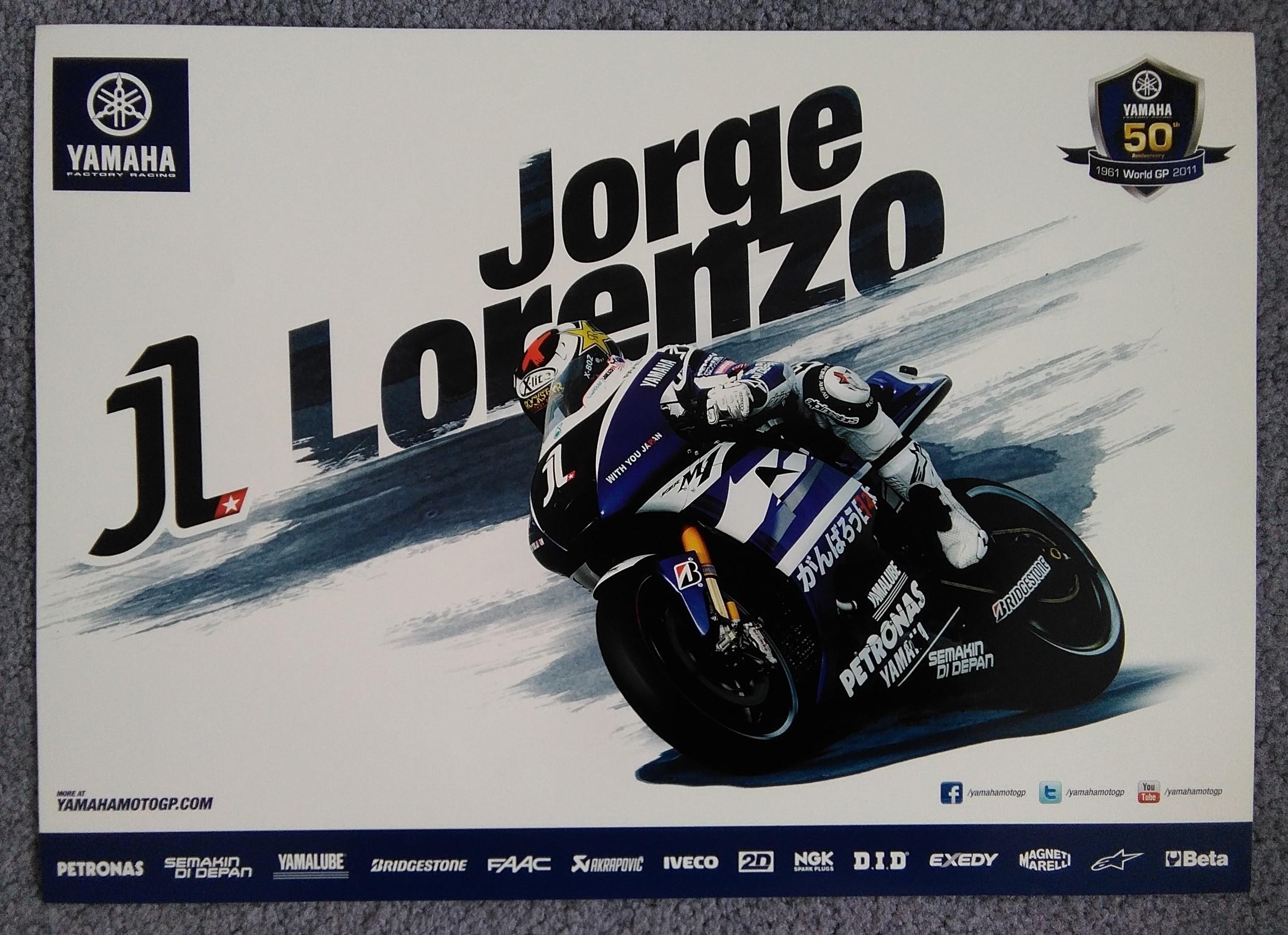 Jorge Lorenzo Yamaha 50th Poster