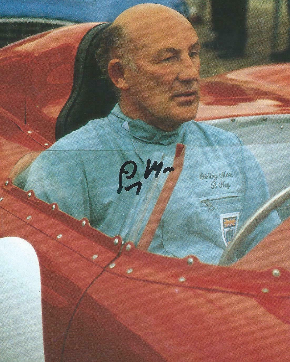 Moss Signed-Maserati Cockpit