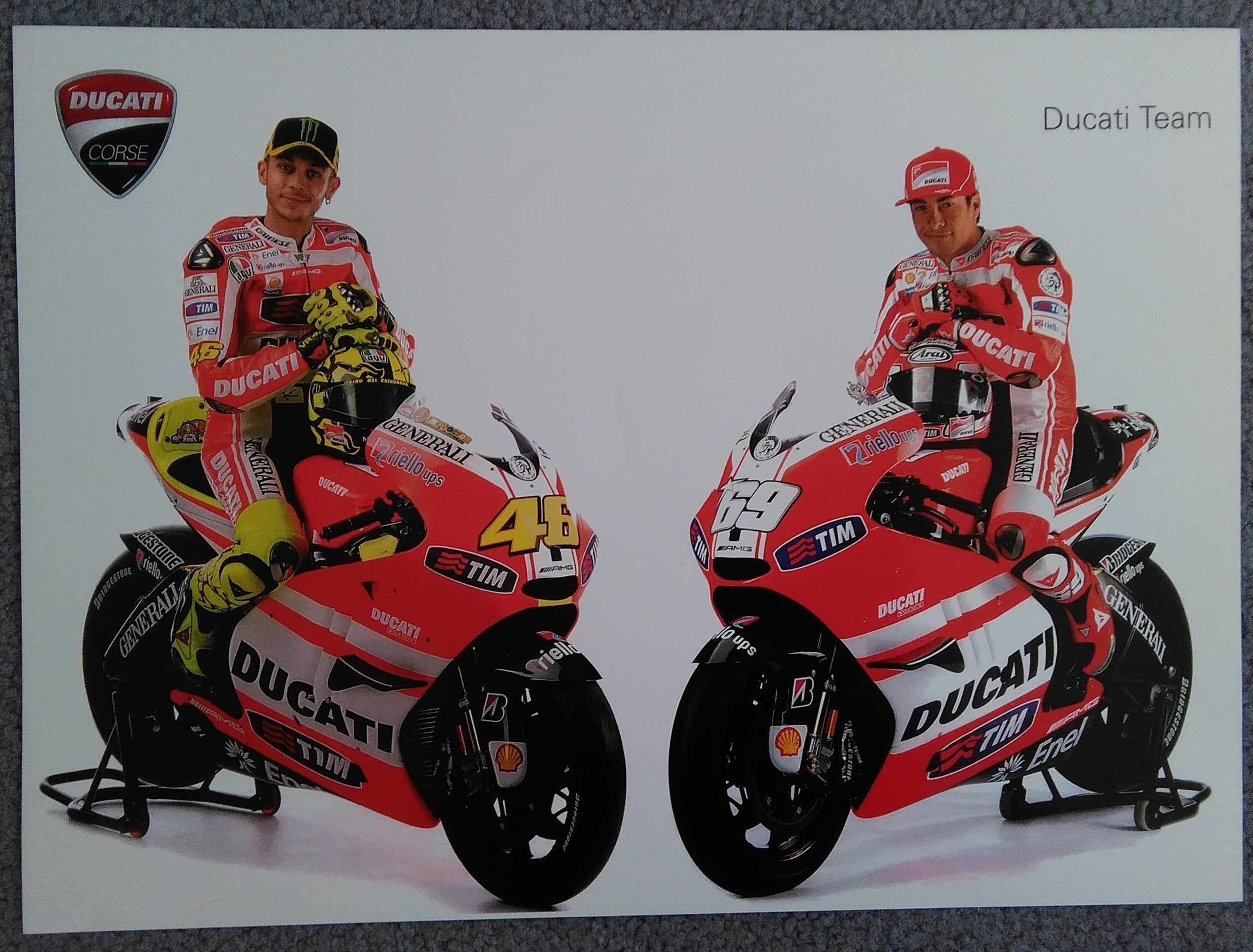 Rossi and Hayden-Ducati Team