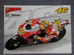 Valentino Rossi 2012 Ducati Poster