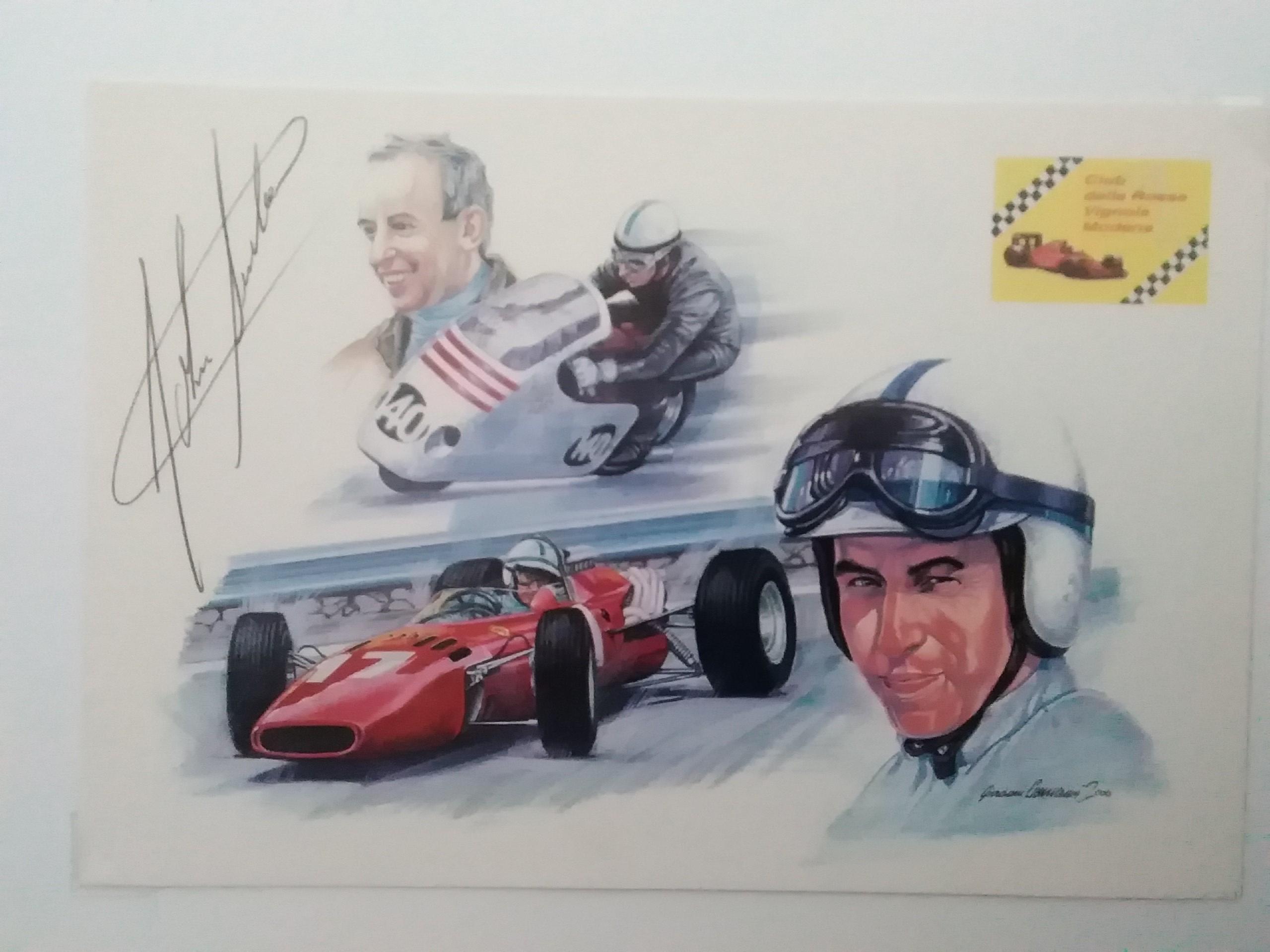 John Surtees-Montage Card-Signed