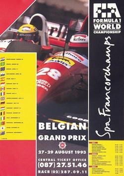 Original Belgium 1993 Poster