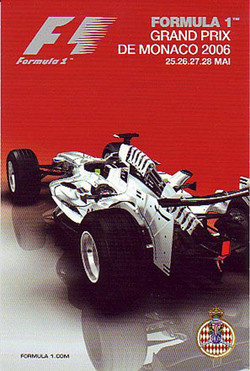 Original Monaco Grand Prix 2006 Poster