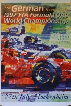 1997 German GP Poster