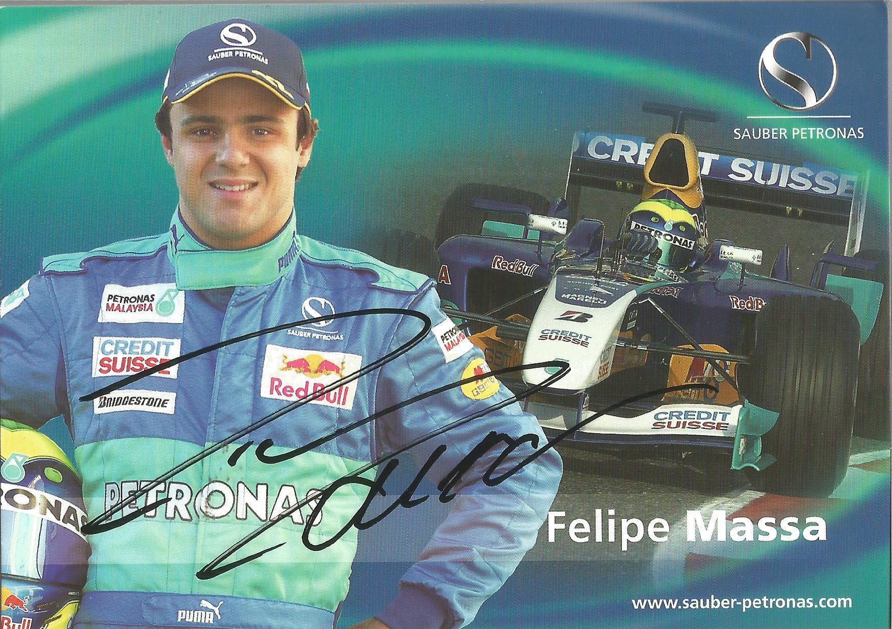 Felipe Massa Signed Sauber Petronas Card