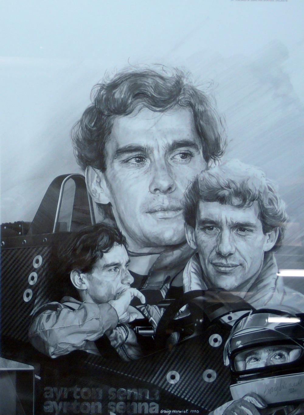 Ayrton Senna Sepia Print