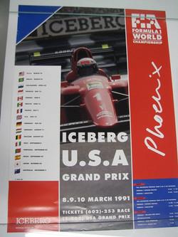 1991 USA Car GP Poster