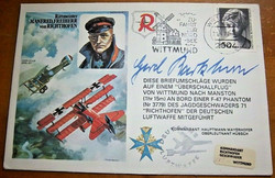 Gerd Barkhorn Signed Richthofen FDC