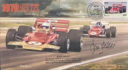 John Miles Signed FDC