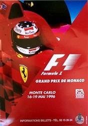 Original 1996 Monaco F1 GP Poster