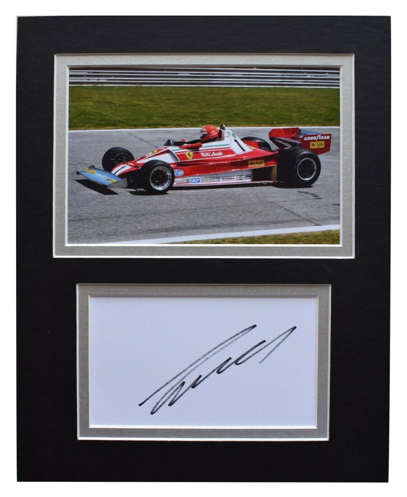 Niki Lauda Mounted Photo-Signed