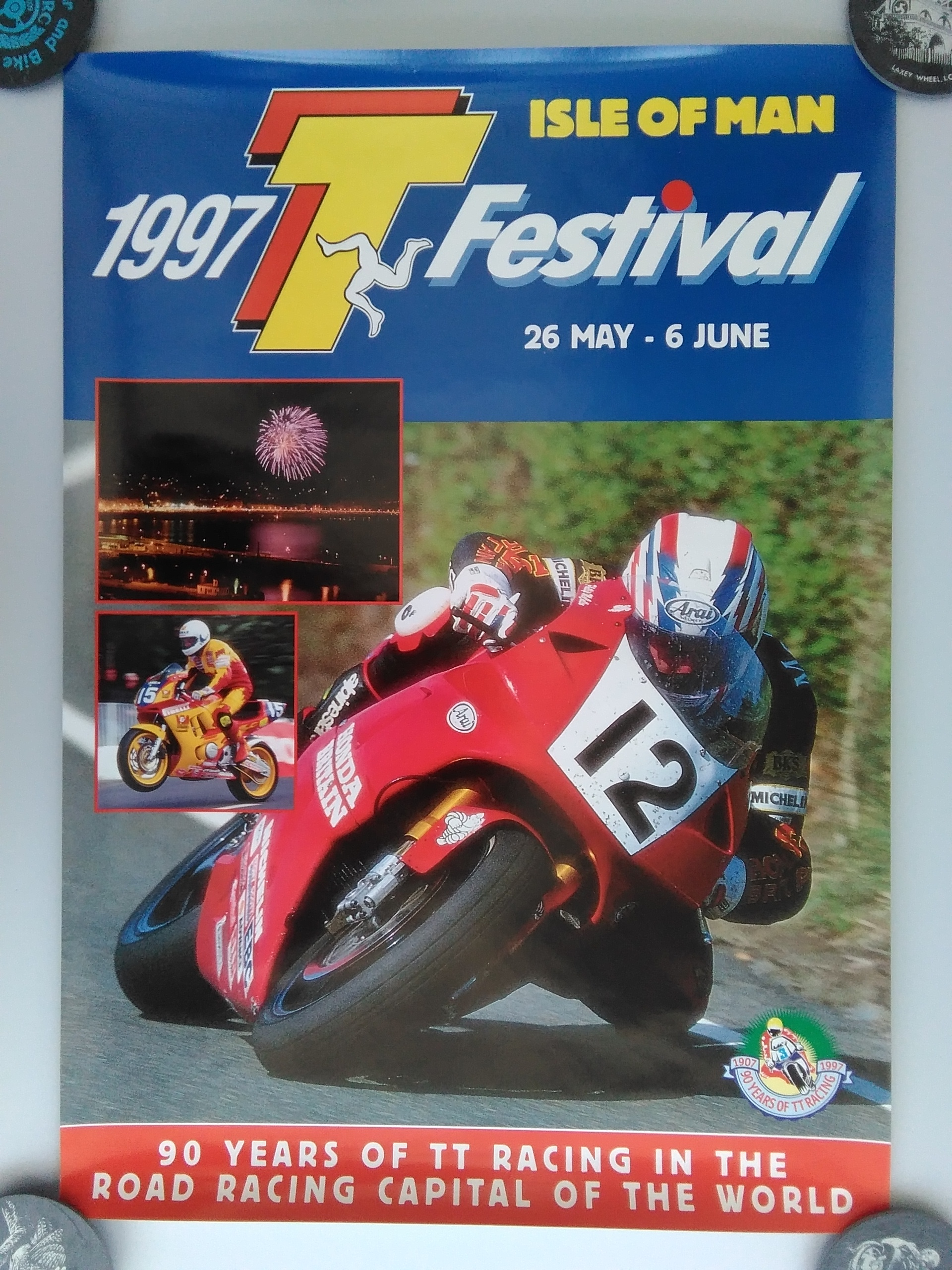 Original 1997 Isle Of Man TT Poster