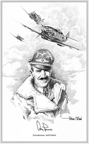 Adolf Galland by Heinz Krebs