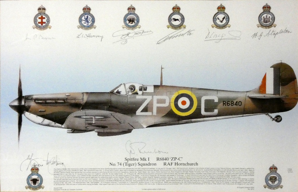 Multi Signed Spitfire Squadron Profile