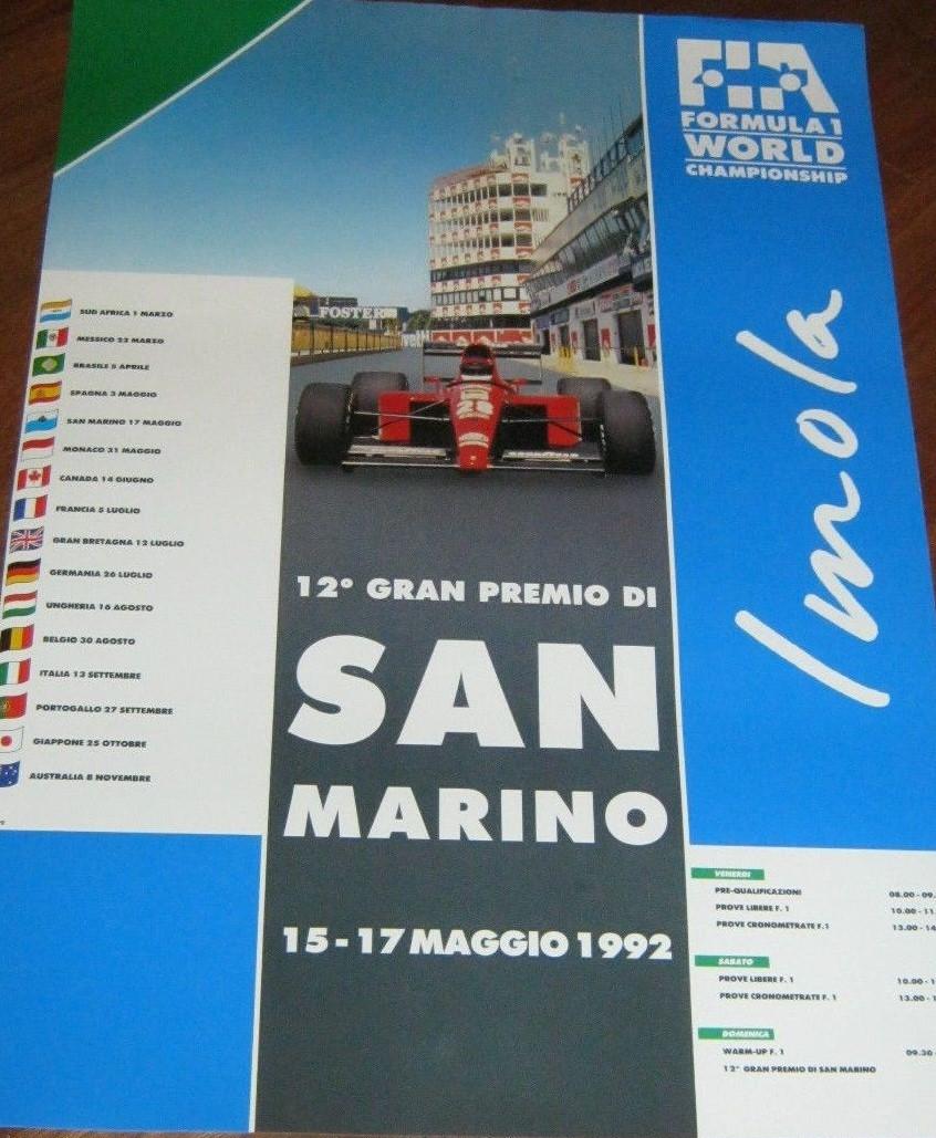1992 San Marino Poster