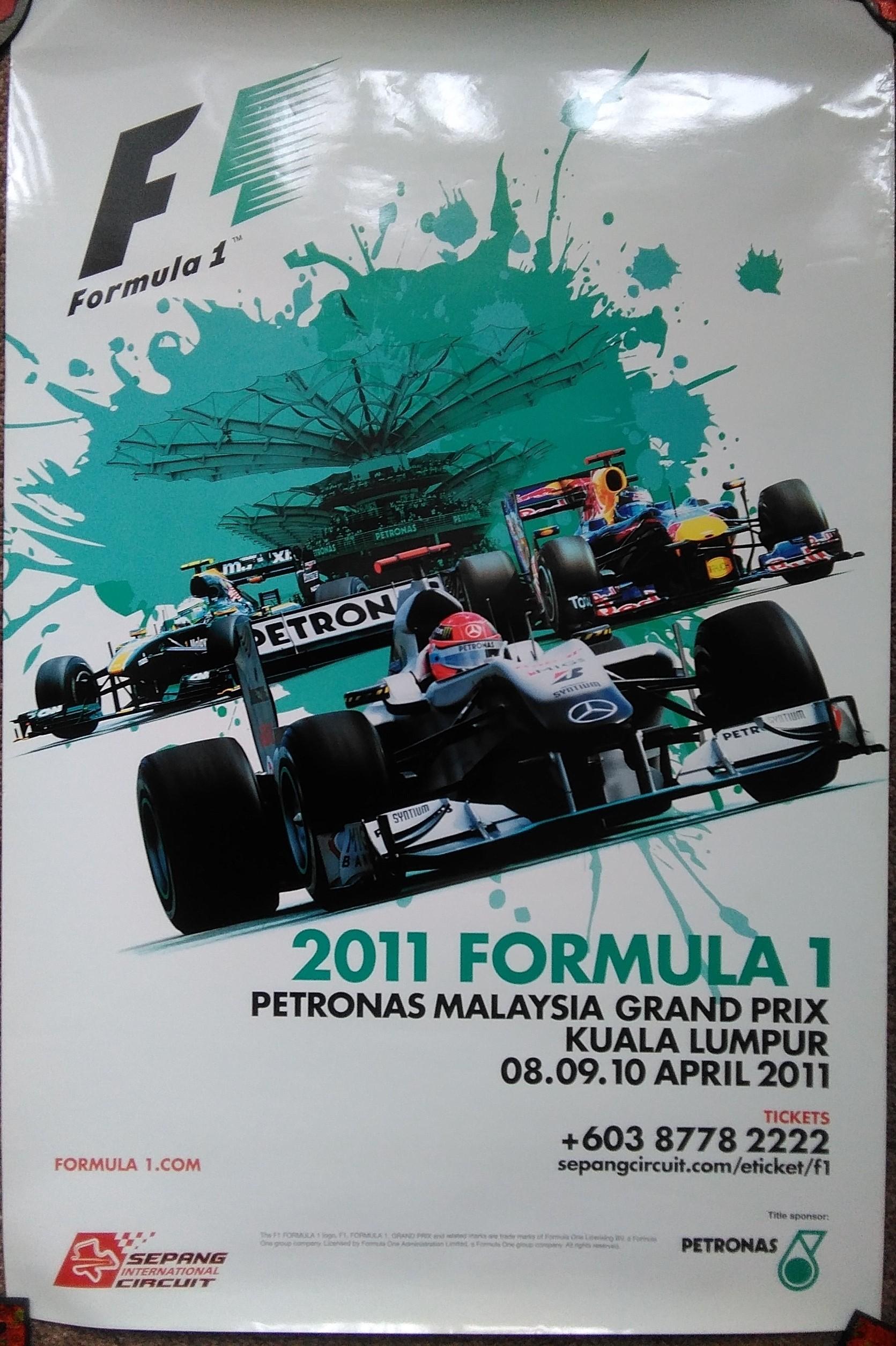 Malaysia F1 GP Poster 2011
