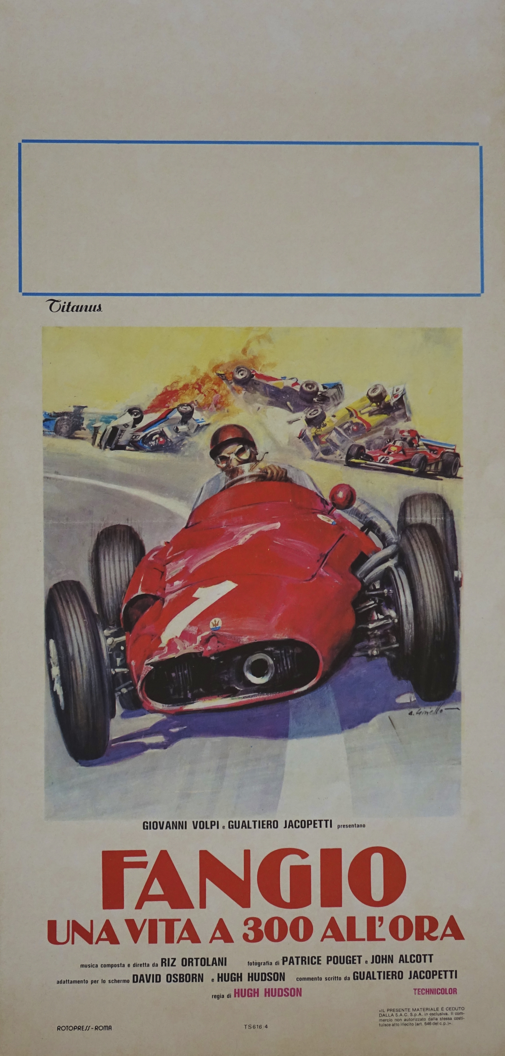 Fangio Linen Backed Film Poster
