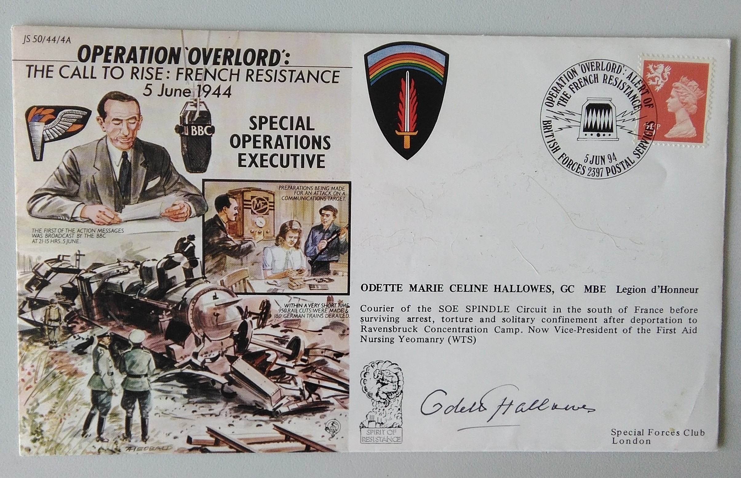 Operation Overlord/S.O.E. Cover- Hallowes Signed