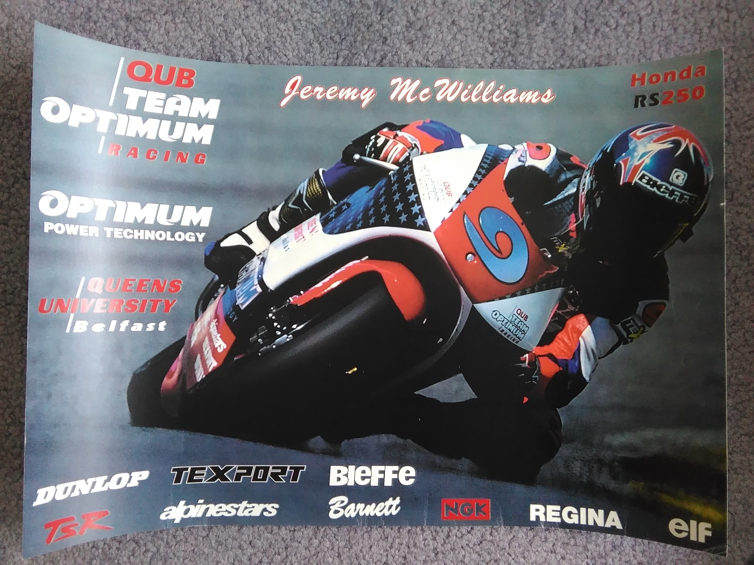 Jeremy McWilliams Team Optimum RS250 Hon