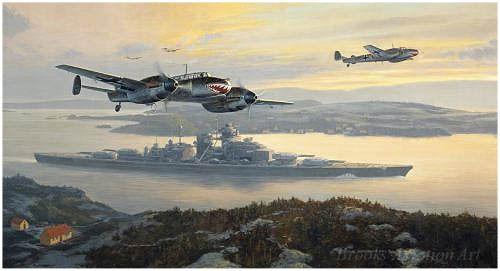 Bismark Into Battle by Mark Postlethwaite