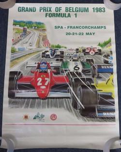 1983 Spa Belgium F1 Poster