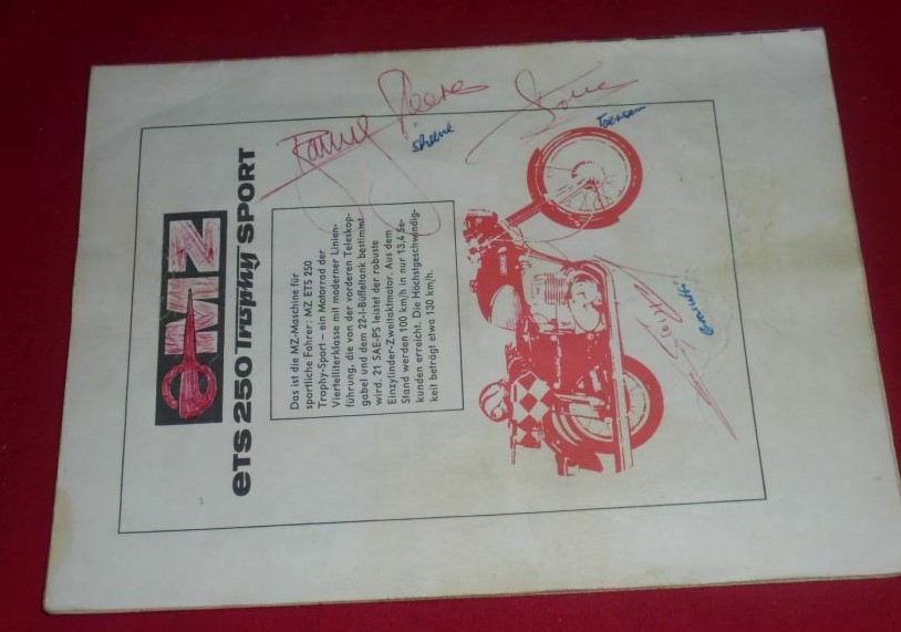 Barry Sheene Signed 1971 Programme