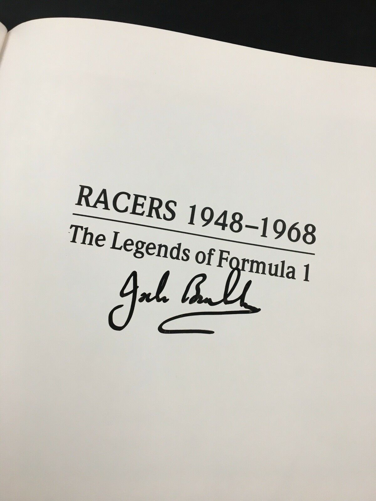Racers 1948-68 Signed