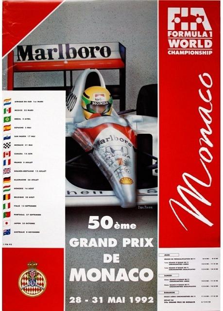 Original Monaco Poster 1992