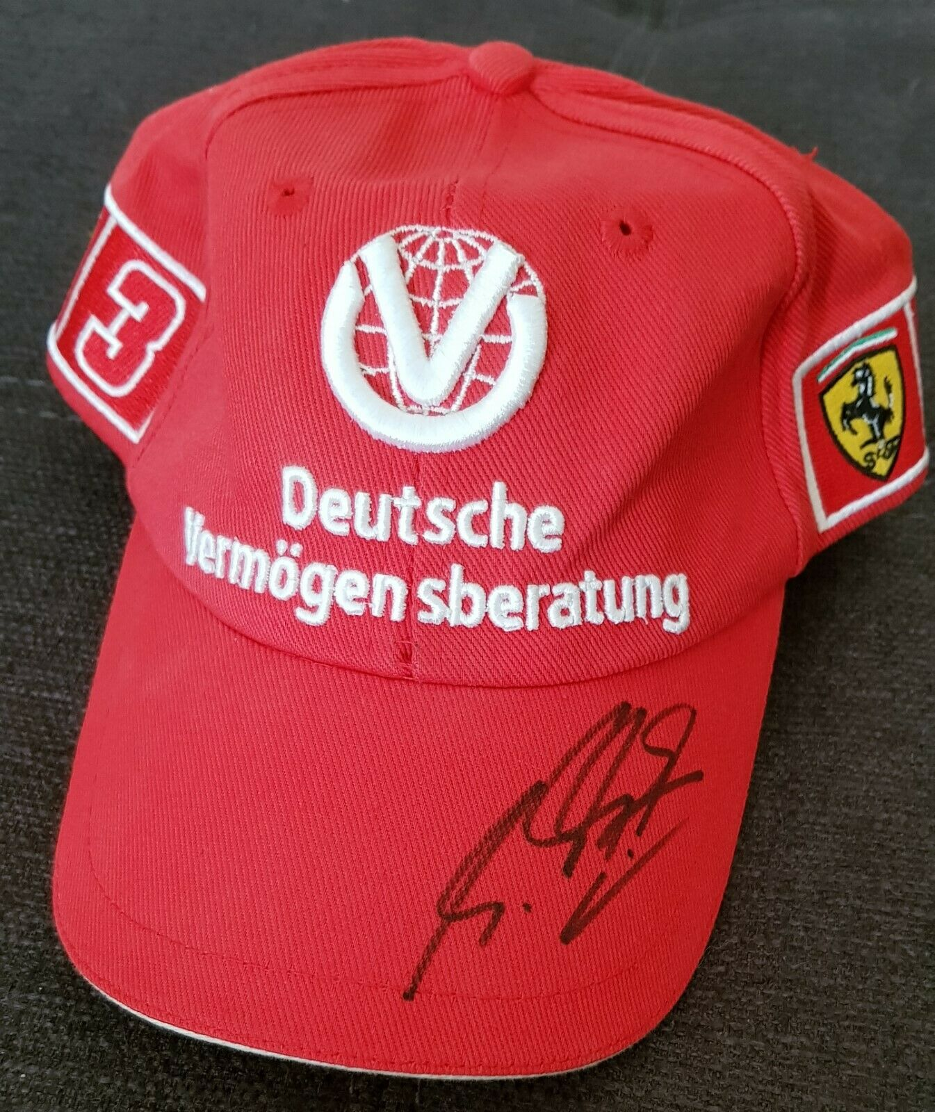 Schumacher Signed DVAG 2000 Cap