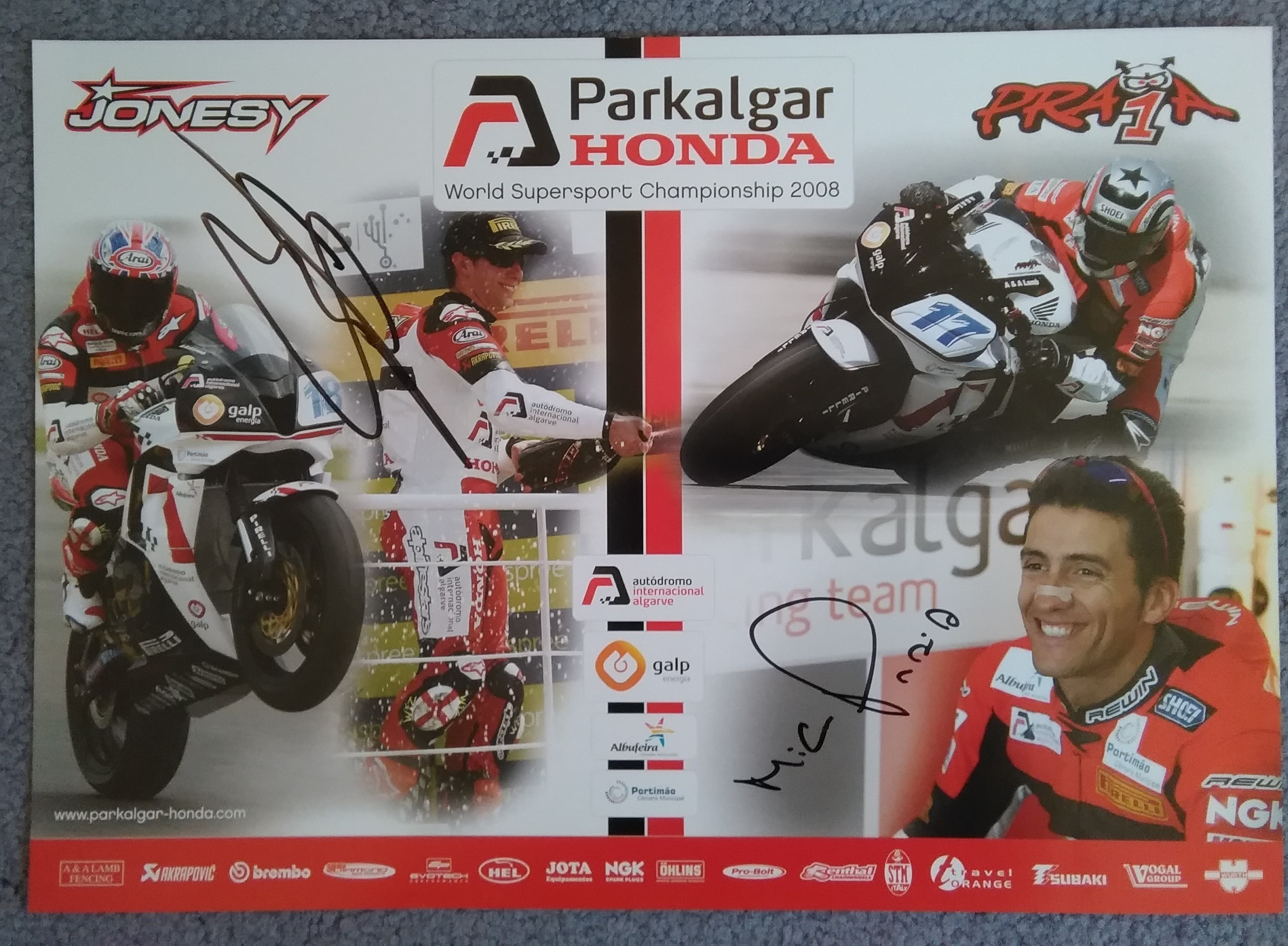 Craig Jones-Miguel Praia-Signed