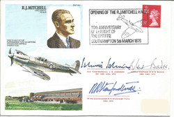 R.J. Mitchell Cover Multi Signed