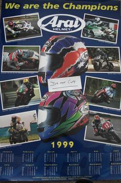 Arai Calendar Poster 1999